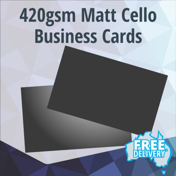 Business Cards - 420gsm - Matt Coated - Full Colour