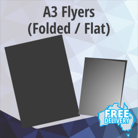 Flyers - A3 - 150gsm Gloss - Full Colour - Flat / Folded - 297x420mm