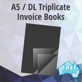Invoice Books - A5 / DL - Triplicate Books Of 50